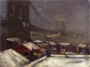 George Benjamin Luks - Brooklyn Bridge