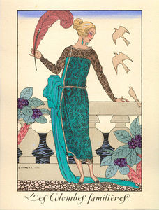 Georges Barbier - Les Columbes Familieres
