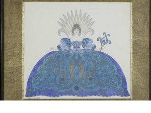 Georges Barbier - Two Georges Barbier Costume Sketches