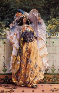 Georges Jules Victor Clairin - An Ouled Nail Tribal Dancer