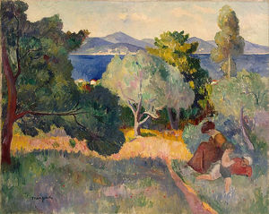 Henri Gaudier Brzeska - Mother And Children In St-tropez Landscape