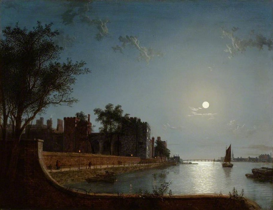 Lambeth Palace By Moonlight by Henry Pether (1828-1865, United Kingdom) | WahooArt.com