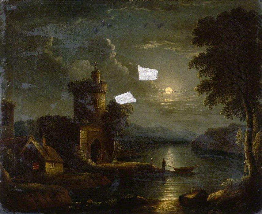 Moonlit Landscape by Henry Pether (1828-1865, United Kingdom) | WahooArt.com