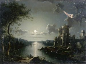 Henry Pether - Moonlit Scene