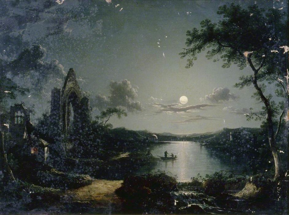 Moonlit Scene by Henry Pether (1828-1865, United Kingdom) | Art Reproduction | WahooArt.com