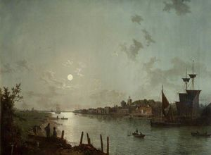 Henry Pether - Scene On The Thames