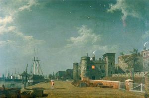 Henry Pether - Tower Of London And Customs House