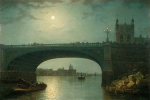 Henry Pether - Westminster Bridge By Moonlight