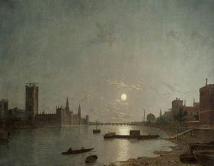 Henry Pether - Westminster In The Moonlight