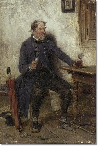 A Bad Beer by Hugo Wilhelm Kauffmann (1844-1915, Germany) | Museum Art Reproductions Hugo Wilhelm Kauffmann | WahooArt.com