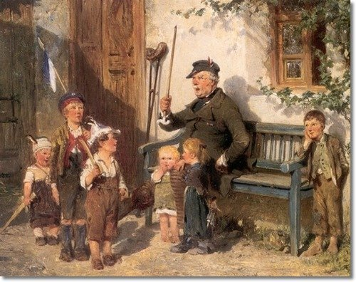 Order Paintings Reproductions | Playing Soldiers by Hugo Wilhelm Kauffmann (1844-1915, Germany) | WahooArt.com