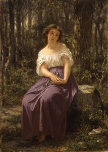 Hugues Merle - A Girl In The Woods
