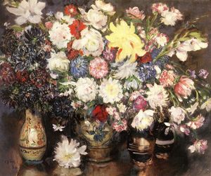 Istvan Csok - Still-life With Flowers