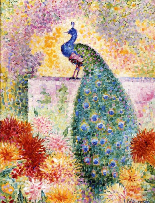 A Peacock by Jean Dominique Antony Metzinger (1883-1956, France)
