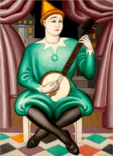 Clown Au Banjo by Jean Dominique Antony Metzinger (1883-1956, France)