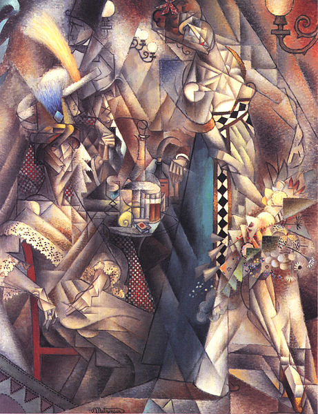 Dancer In A Café by Jean Dominique Antony Metzinger (1883-1956, France)