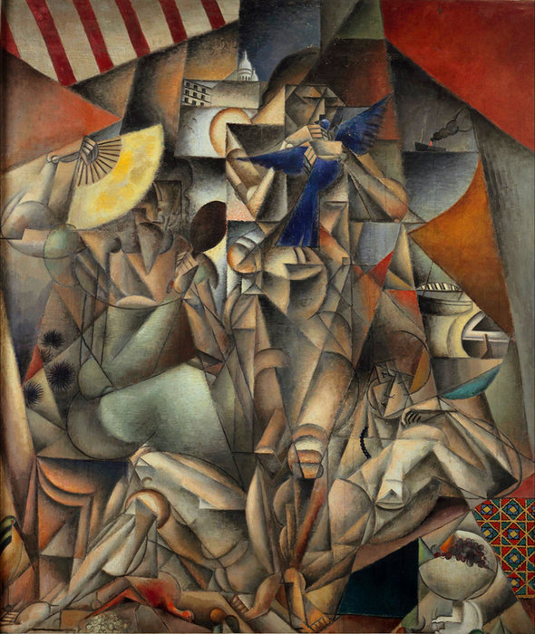 L'oiseau Bleu by Jean Dominique Antony Metzinger (1883-1956, France)