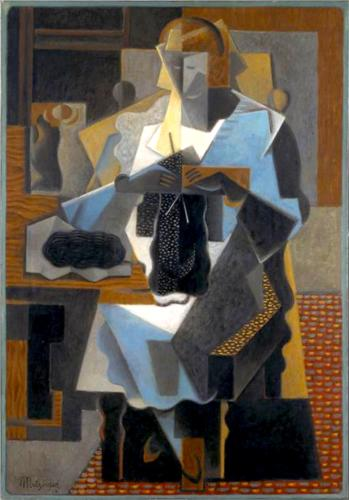 La Tricoteuse by Jean Dominique Antony Metzinger (1883-1956, France) | Famous Paintings Reproductions | WahooArt.com