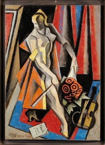 La Violiniste by Jean Dominique Antony Metzinger (1883-1956, France)