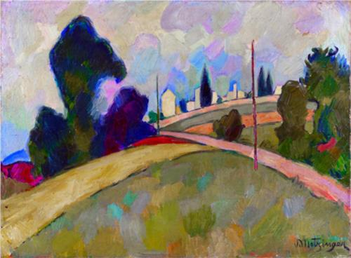 Le Chemin A Travers Les Champs by Jean Dominique Antony Metzinger (1883-1956, France)