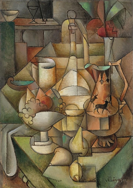 Nature Morte by Jean Dominique Antony Metzinger (1883-1956, France) | Painting Copy | WahooArt.com
