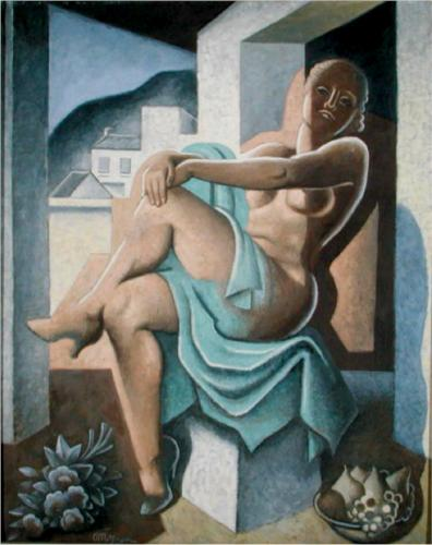 Nude In The Sun by Jean Dominique Antony Metzinger (1883-1956, France)