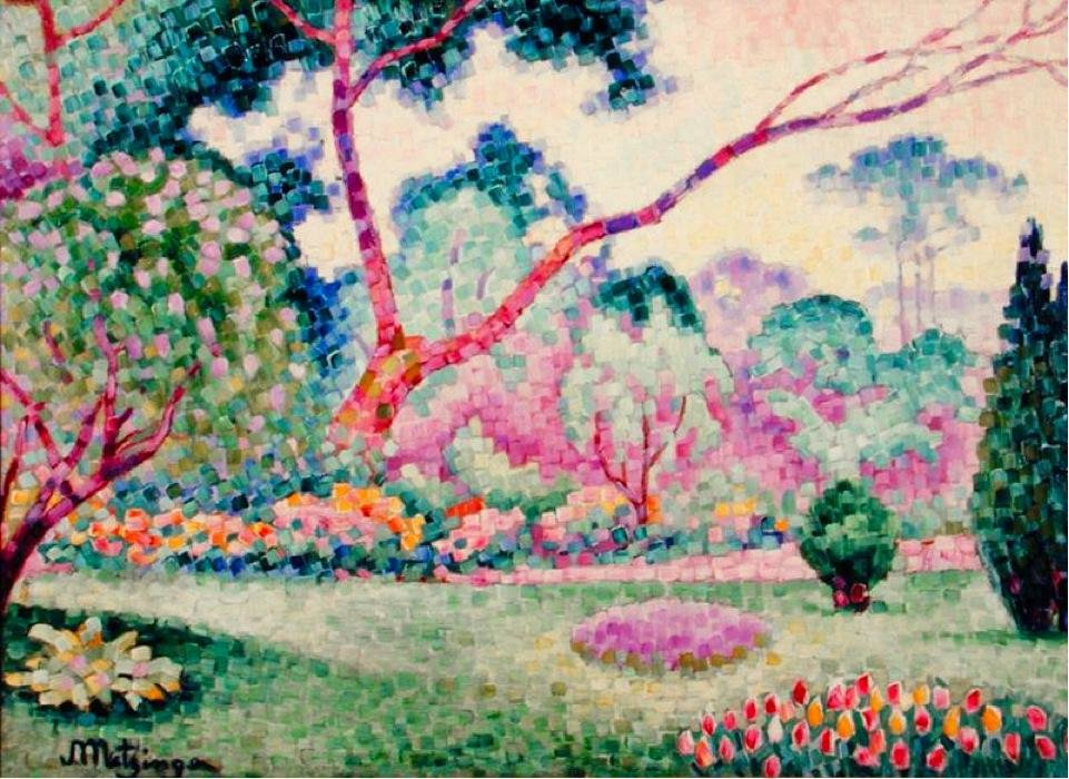 Parc Monceau by Jean Dominique Antony Metzinger (1883-1956, France)