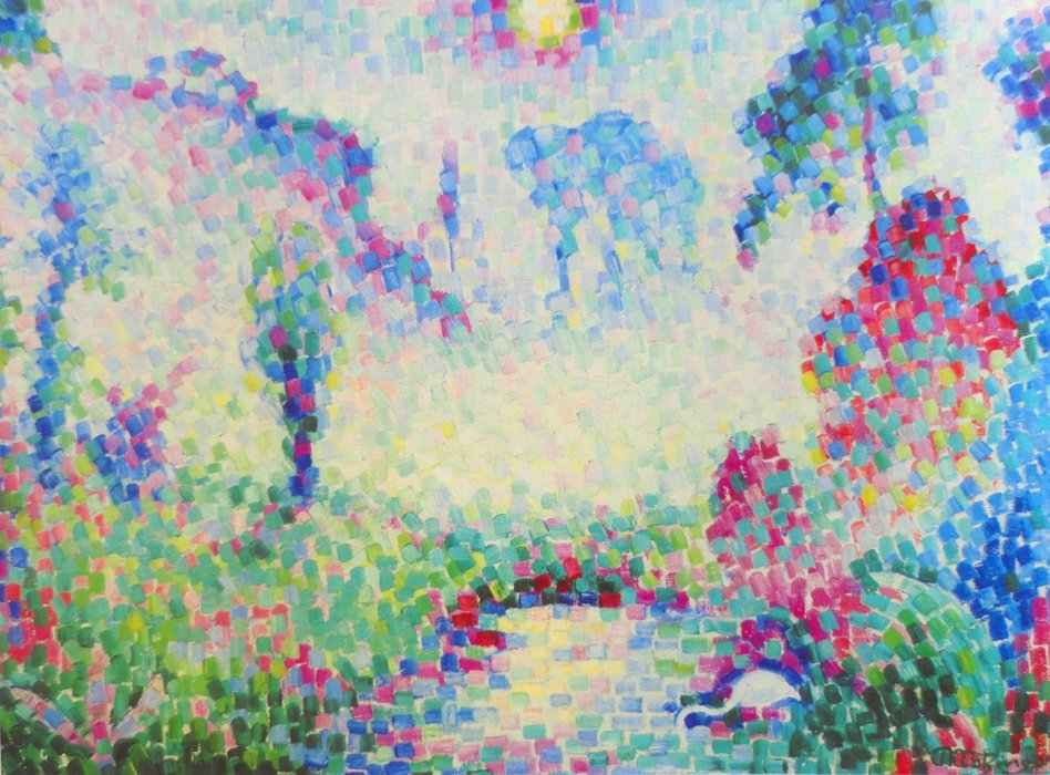 Paysage Pointilliste by Jean Dominique Antony Metzinger (1883-1956, France)