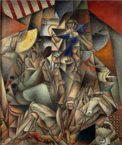 The Blue Bird by Jean Dominique Antony Metzinger (1883-1956, France)