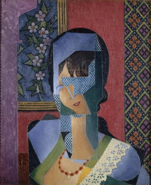 Woman With Lace by Jean Dominique Antony Metzinger (1883-1956, France)