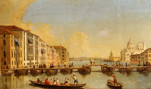 Johann Richter - View Of The Grand Canal And Santa Maria Della Salute, Venice