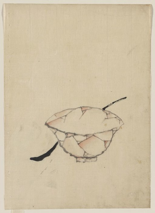 A Bowl With A Spoon by Katsushika Hokusai (1760-1849, Japan) | Painting Copy | WahooArt.com