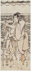 Order Museum Quality Reproductions : Actor Ichikawa Komazô Ii As Shirai Gonpachi by Katsushika Hokusai (1760-1849, Japan) | WahooArt.com
