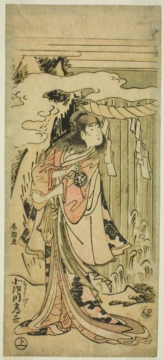 An Actor Of Woman's Roles by Katsushika Hokusai (1760-1849, Japan)