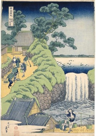 Aoigaoka Waterfall In Edo by Katsushika Hokusai (1760-1849, Japan) | Art Reproduction | WahooArt.com