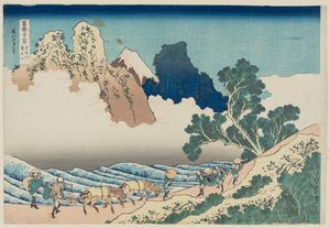 Katsushika Hokusai - Back View Of Fuji From The Minobu River