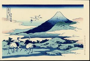 Katsushika Hokusai - Blue Mt. Fuji At Dawn Near Oiso