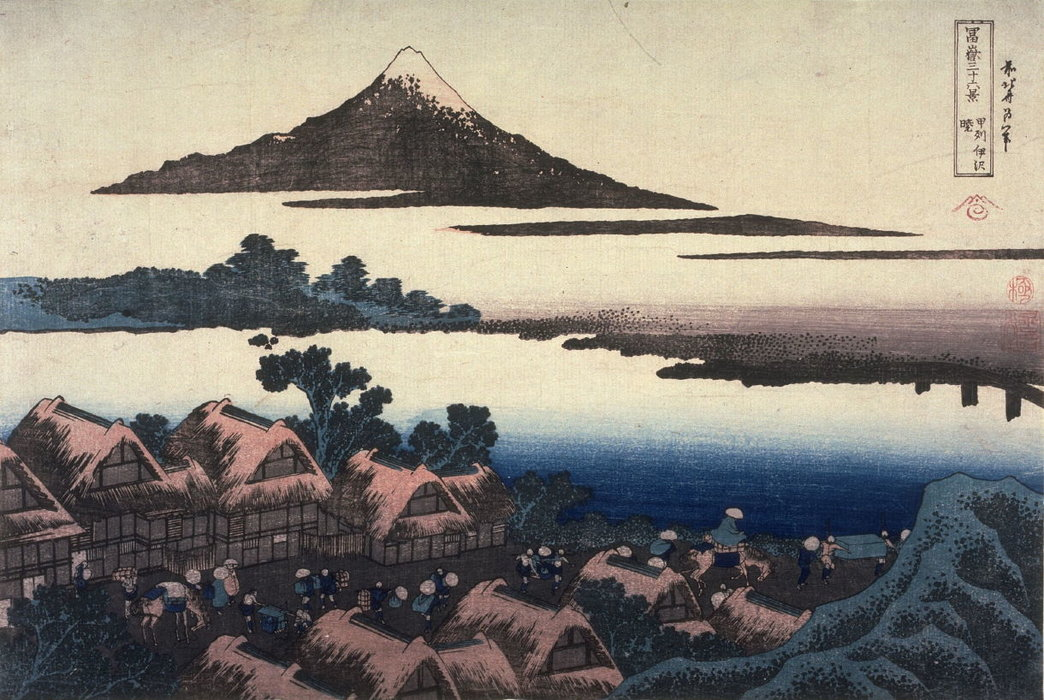 Dawn At Isawa In Kai Province, From The Series Thirty-six Views Of Mount Fuji by Katsushika Hokusai (1760-1849, Japan)