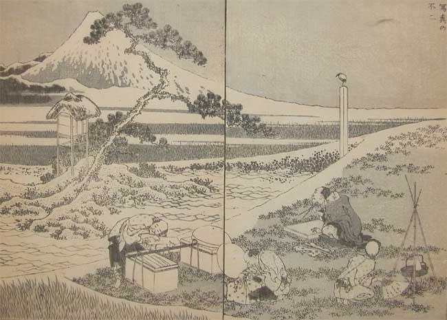 Drawing Fuji From Life by Katsushika Hokusai (1760-1849, Japan) | Museum Quality Reproductions | WahooArt.com