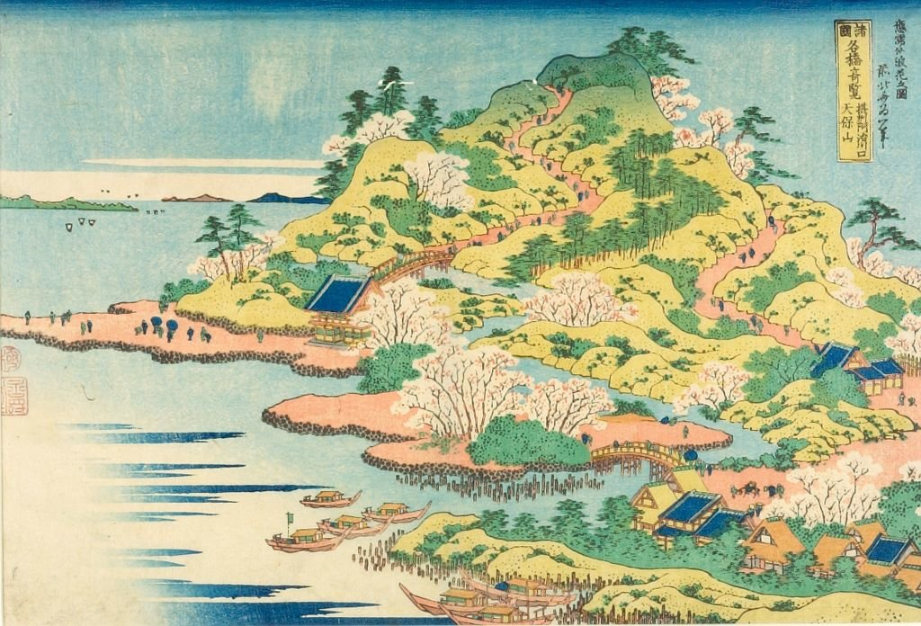 Famous Bridges In Varous Provinces by Katsushika Hokusai (1760-1849, Japan)