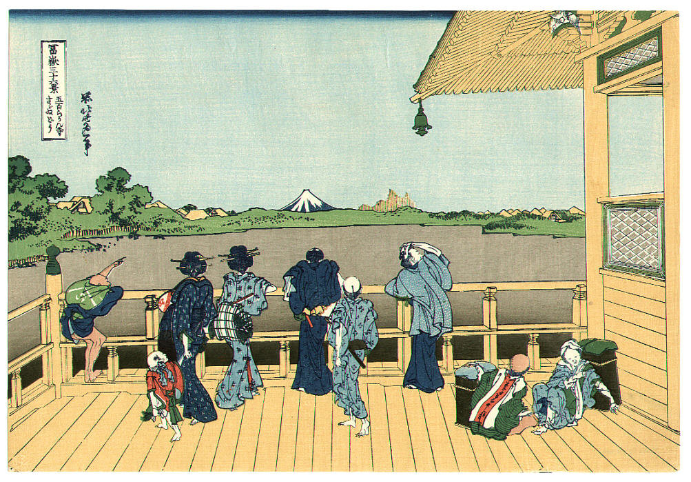 Order Museum Quality Reproductions : Five Hundred Rakan Temple - Thirty-six Views Of Mt.Fuji by Katsushika Hokusai (1760-1849, Japan) | WahooArt.com