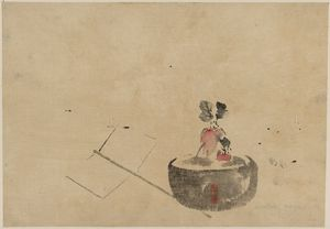 Katsushika Hoki - Flower Or Vegetable In A Flowerpot