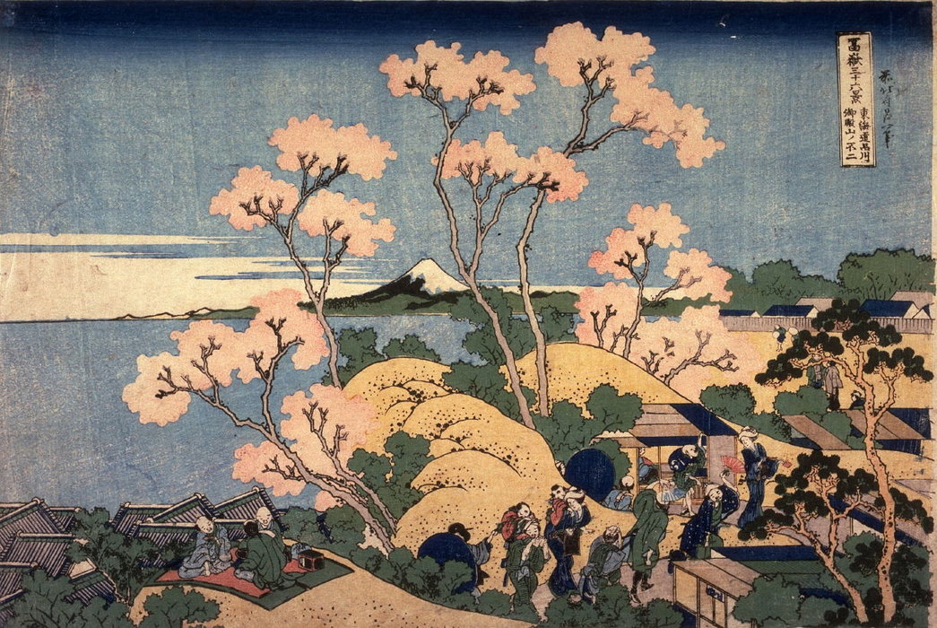 Fuji From Goten Hill At Shinagawa by Katsushika Hokusai (1760-1849, Japan) | Oil Painting | WahooArt.com