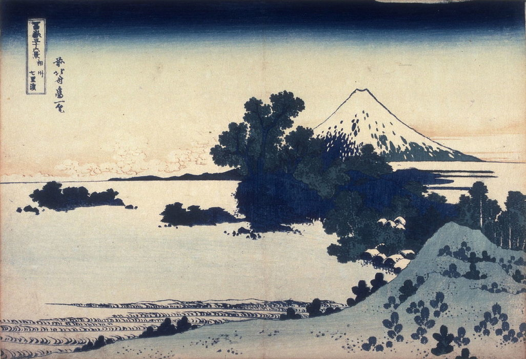 Fuji From The Shichirigahama Beach In Sagami Province by Katsushika Hokusai (1760-1849, Japan)