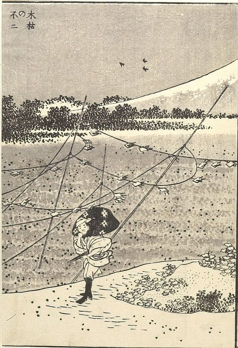 Order Museum Quality Reproductions : Fuji In A Winter Wind by Katsushika Hokusai (1760-1849, Japan) | WahooArt.com