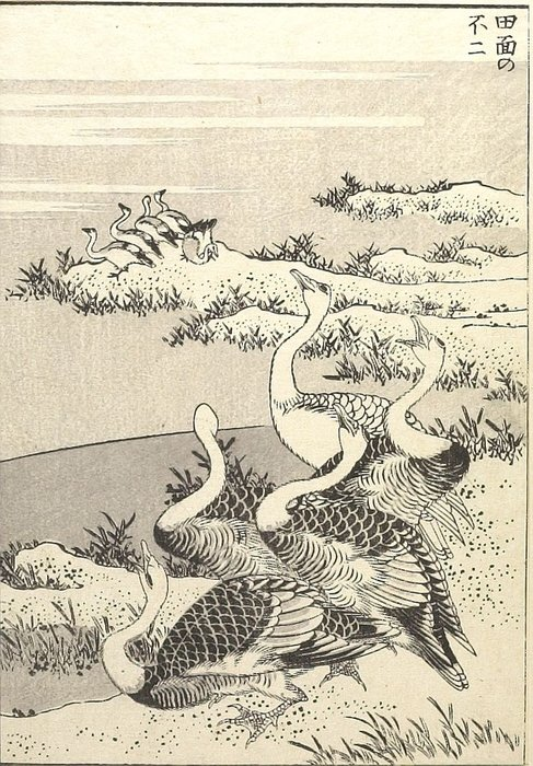 Fuji On The Face Of A Paddy by Katsushika Hokusai (1760-1849, Japan)