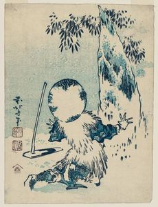 Katsushika Hokusai - Giant Bamboo Shoot Appearing From The Snow