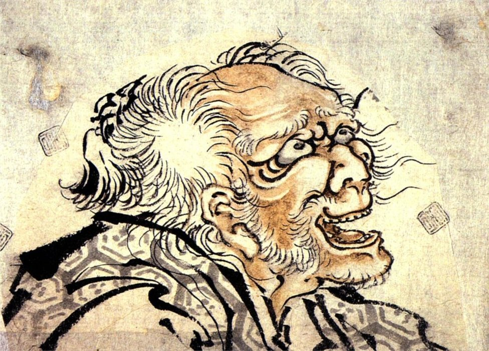Head Of An Old Man by Katsushika Hokusai (1760-1849, Japan)
