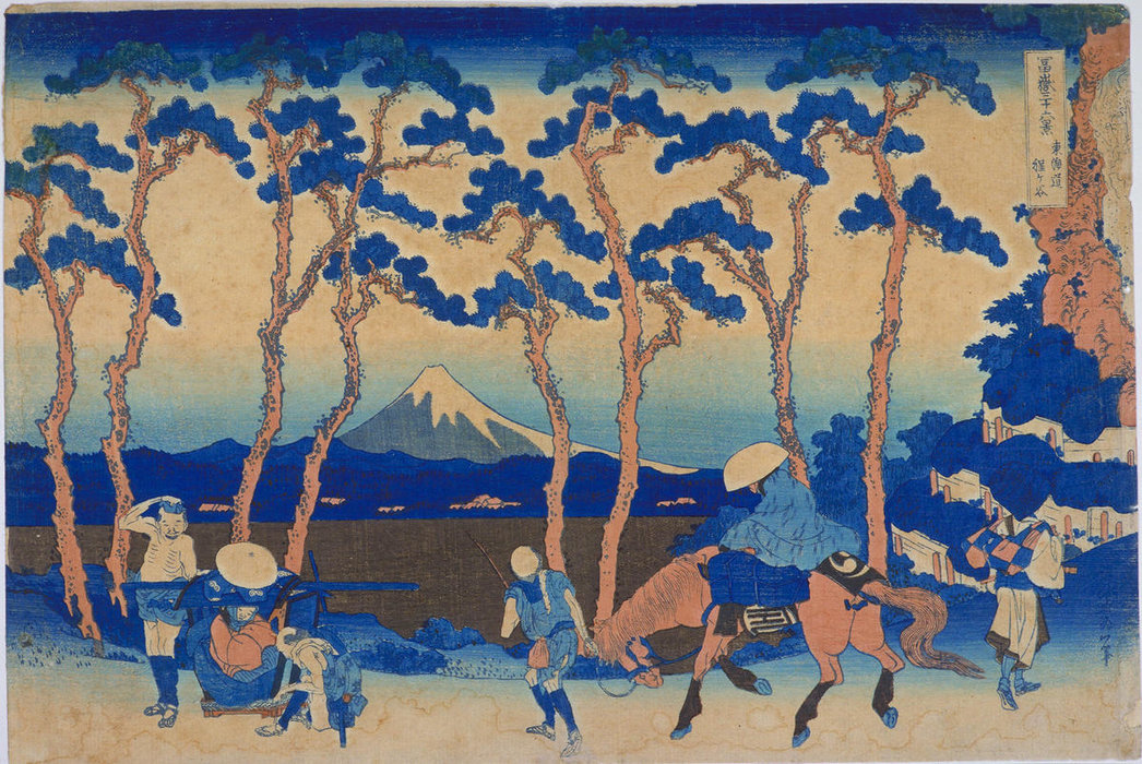 Hodogaya On The Tokaido Highway by Katsushika Hokusai (1760-1849, Japan)