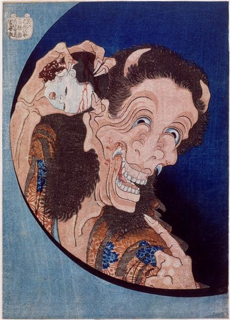 Laughing Demon by Katsushika Hokusai (1760-1849, Japan)